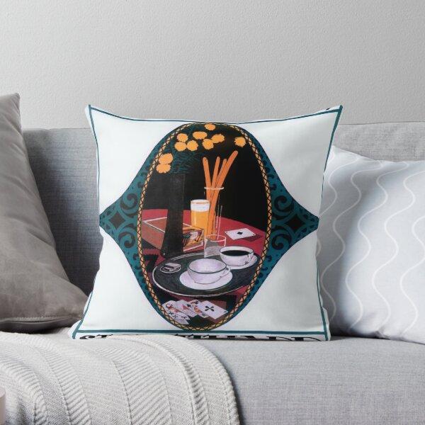 Cafe Art Pillows Cushions Redbubble
