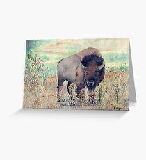 Where The Buffalo Roams Greeting Card