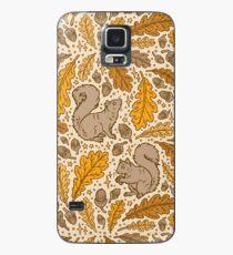 Funda/vinilo para Samsung Galaxy Roble y ardillas | Paleta De Amarillos De Otoño