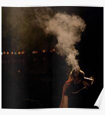 Smoke and hand Poster