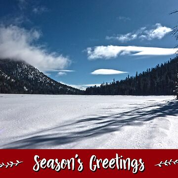 Snowy Lake Holiday Card by JaredManninen