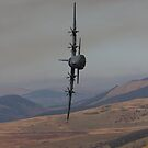 C130 hercules on a tight turn by Rory Trappe