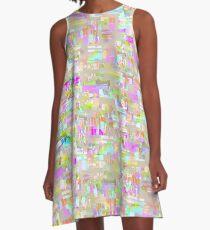 Glitchy - Tweed A-Line Dress