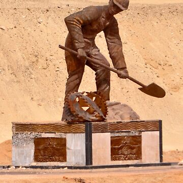 MONUMENT TO WORKERS OF NEW SUEZ CANAL by JAYMILO