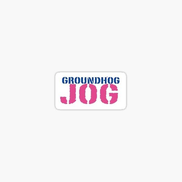 Wiarton Willie Groundhog Jog Sticker