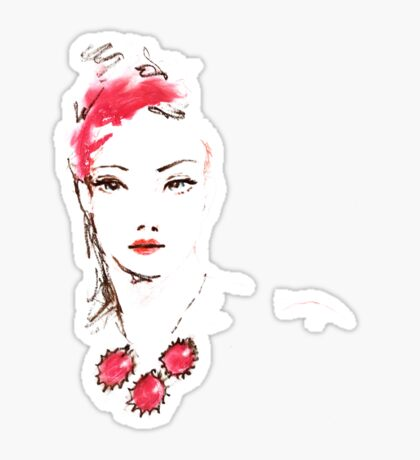 Lipstick Girl Z Sticker
