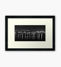 Cardiff bay at night Framed Print