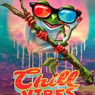 Chillin Tree Frog 3D Glasses  Music Headphones by MudgeStudios