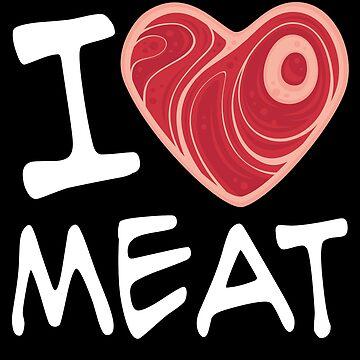 Amo la carne - Versión en texto blanco de fizzgig