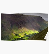 The valley at Tal y Llyn - North Wales Poster