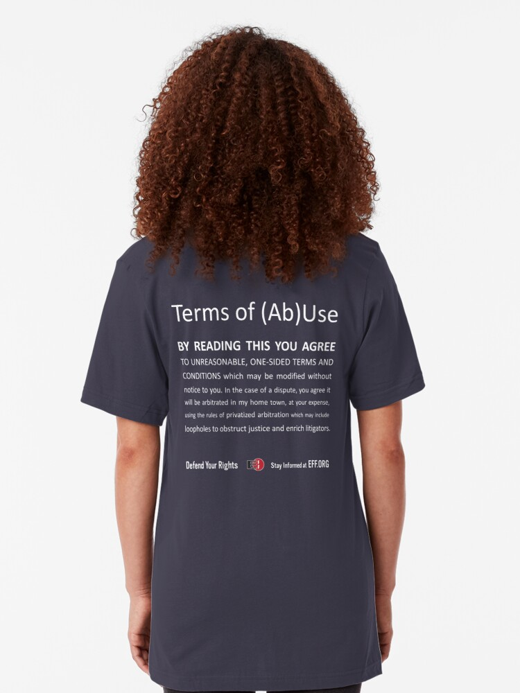 Alternate view of Terms of (Ab)Use - white Slim Fit T-Shirt
