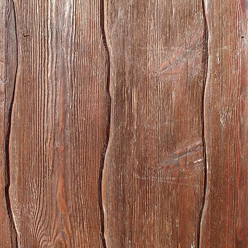 Abstract wooden background of brown color from vertical planks of irregular shape by vladromensky