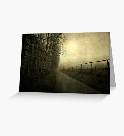 A gleam of light Greeting Card