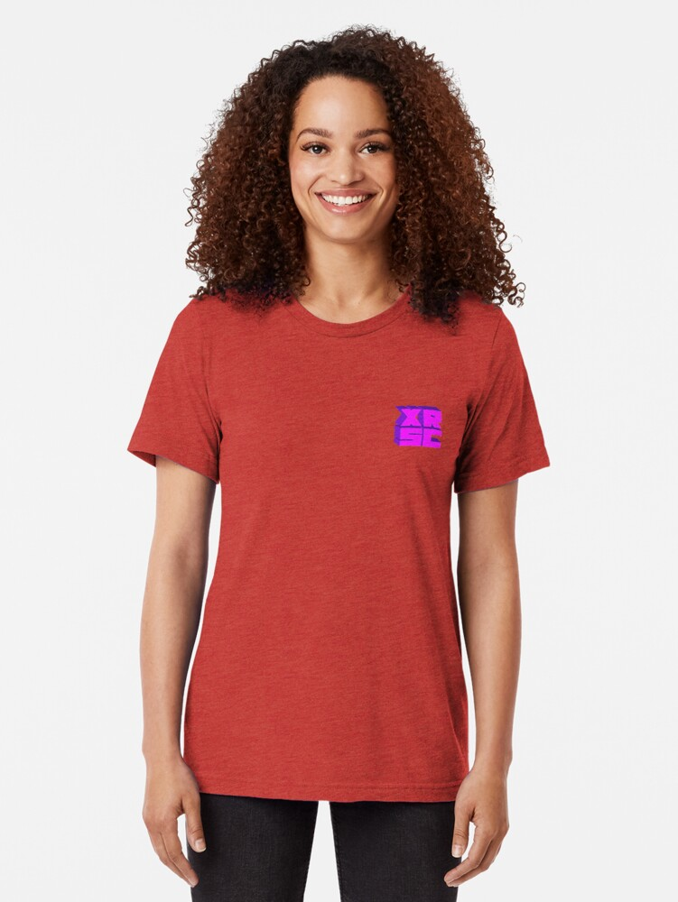 Alternate view of XRSC - Purple Tri-blend T-Shirt