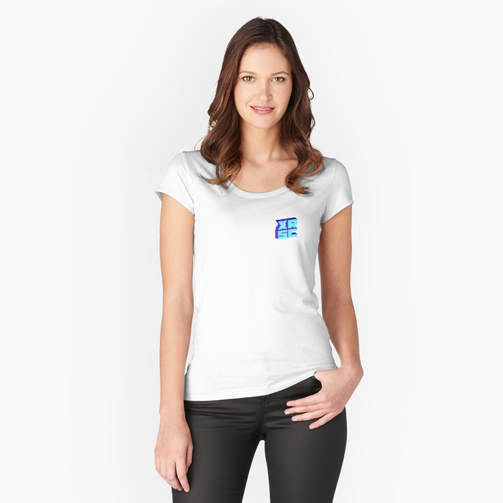 XRSC - Blue Women's Fitted Scoop T-Shirt Front
