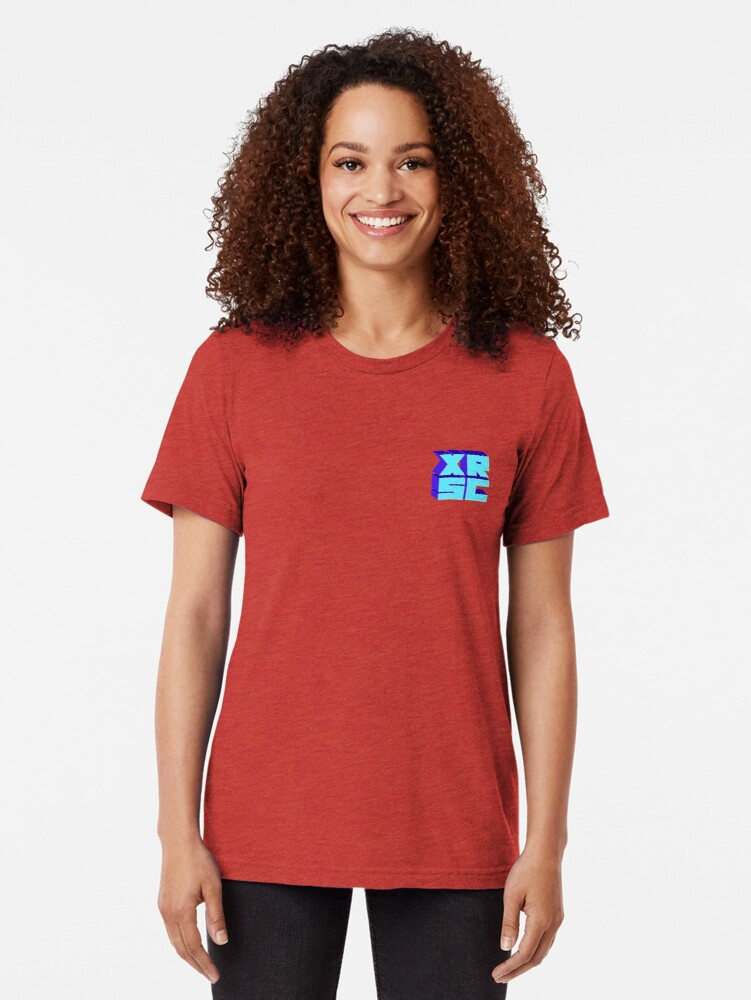 Alternate view of XRSC - Blue Tri-blend T-Shirt
