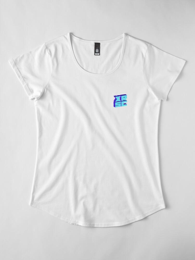 Alternate view of XRSC - Blue Premium Scoop T-Shirt