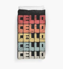 Vintage Cello Teacher Gift / Cello Lessons Duvet Cover