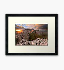 Mt Stapylton, Grampians, Victoria, Australia Framed Print