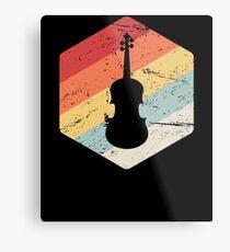 Retro Cello Teacher / Cello Lessons Gift Metal Print