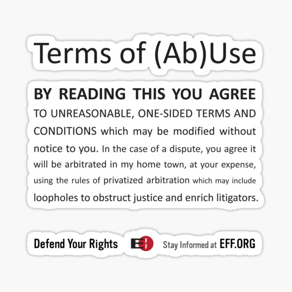 Terms of (Ab)Use Sticker