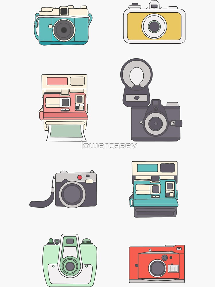 Cameras Sticker Pack 2 by lowercasev