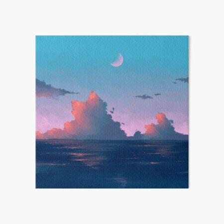 evening sea Art Board Print