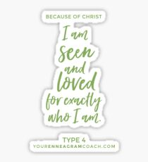 Enneagram Type 4 - Core Longing Sticker