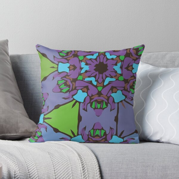 Purple Blush Flower Throw Pillow