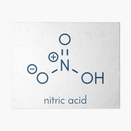 Nitric acid (HNO3) strong mineral acid molecule Art Board Print