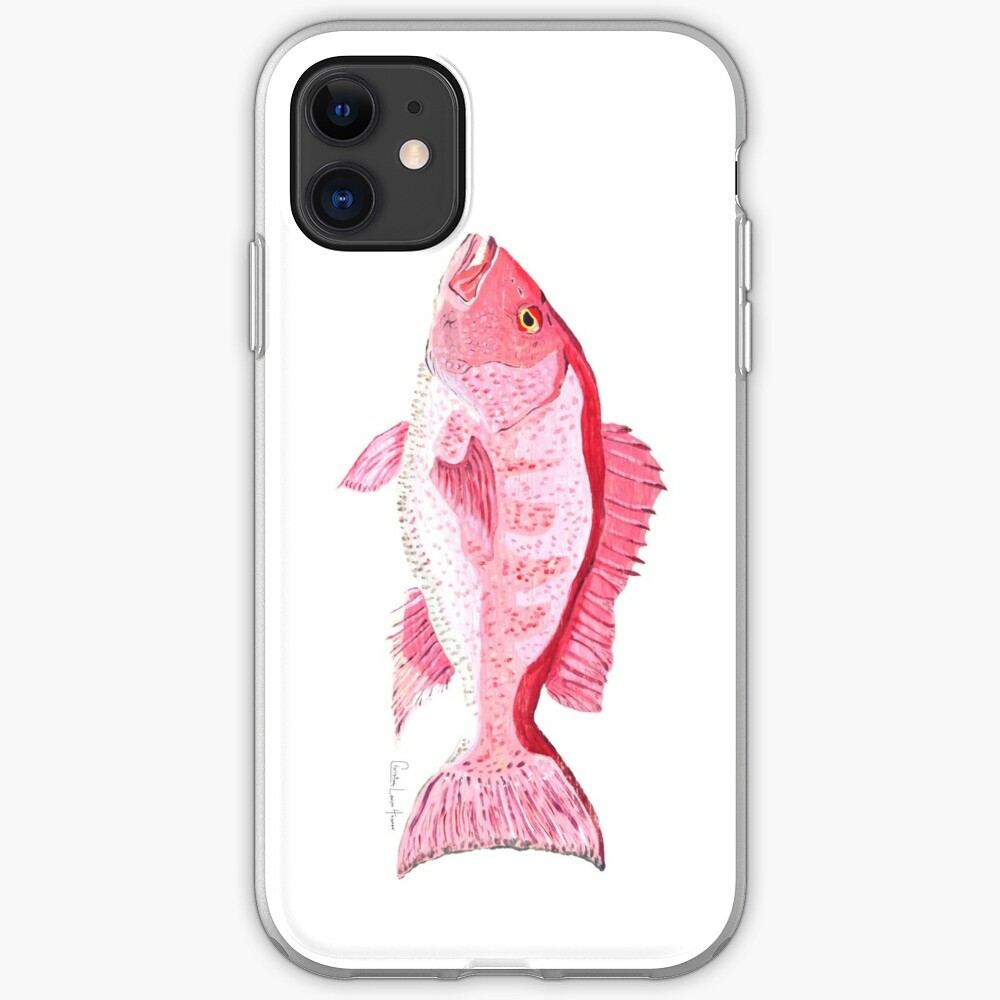 Red Snapper iPhone Soft Case