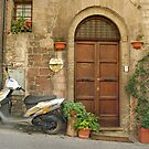Assisi Doorway - Italy by Bob  Perkoski