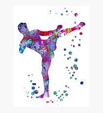 Lámina fotográfica Hombre muay tailandés boxeo, muay thai boxing man