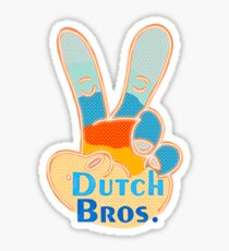 Love sign Dutch bros fingers Sticker