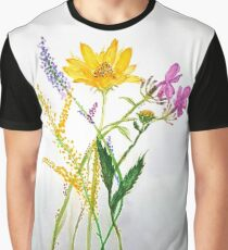 SERIES JASMIN WATERCOLOR FLOWERS Graphic T-Shirt