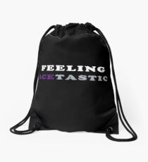 ASEXUALITY FEELING ACETASTIC ASEXUAL T-SHIRT Drawstring Bag