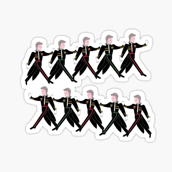 12 Days of Christmas 10 Lords A-Leaping  Sticker