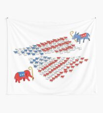 United States Political Divide  Wall Tapestry
