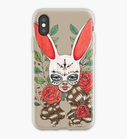 In my garden of rabbits and roses iPhone Case