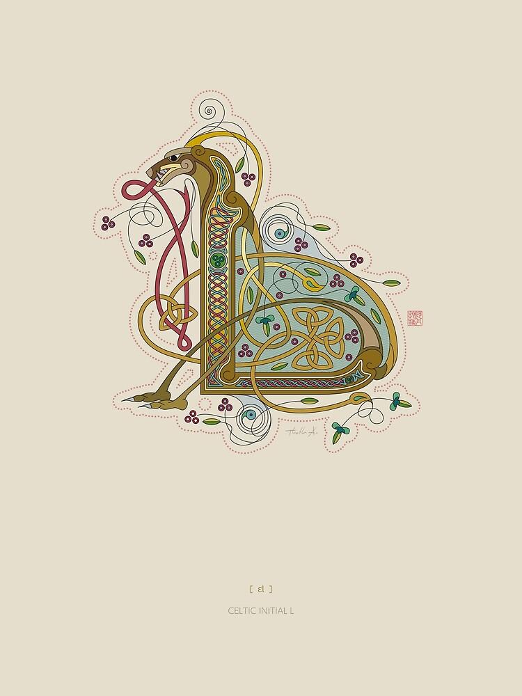 Celtic Initial L by Thoth-Adan