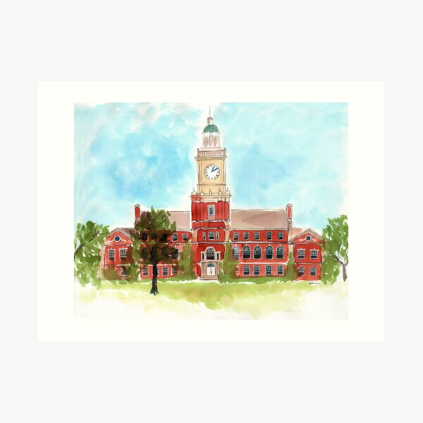 Howard University - Founders Library Art Print