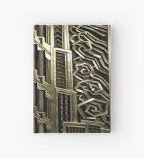 Art Deco, Weinlese, Ära 1920, der große Gatsby, elegant, Chic, Gold, Silber, Bronze, Muster, modisch, modern, mit Blumen Notizbuch