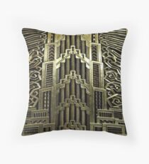 Art deco,vintage,1920 era,the Great Gatsby,elegant,chic,gold,silver,bronze,pattern,trendy,modern,floral Throw Pillow