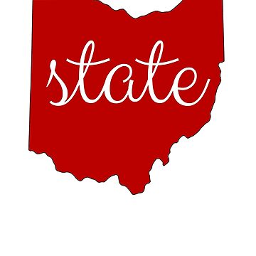 State of Ohio Outline Fan T-Shirt for Men and Women by maxhater