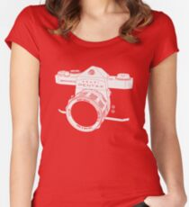 spotmatic white Women's Fitted Scoop T-Shirt