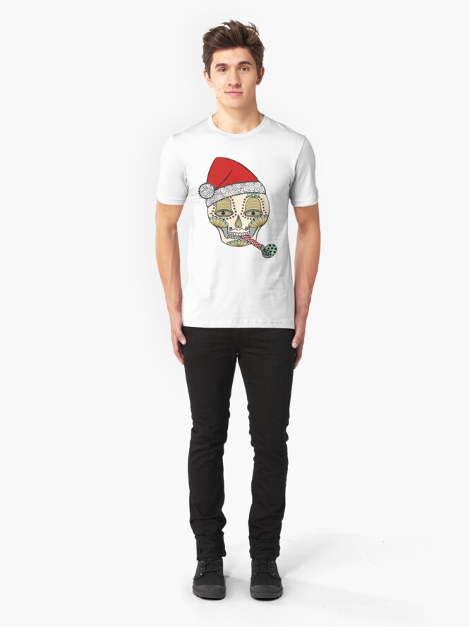 Alternate view of Eat,Drink and Be Merry Slim Fit T-Shirt