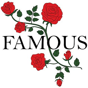 Women's flowers and word Famous. Red rose by dasha-d