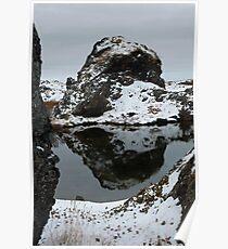 Lake Myvatn Reflection 2 Poster