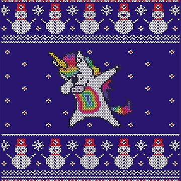 Unicorn celebrating for Christmas by roc21