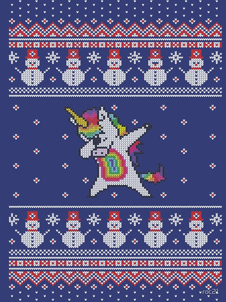 Unicorn celebrating for Christmas de roc21